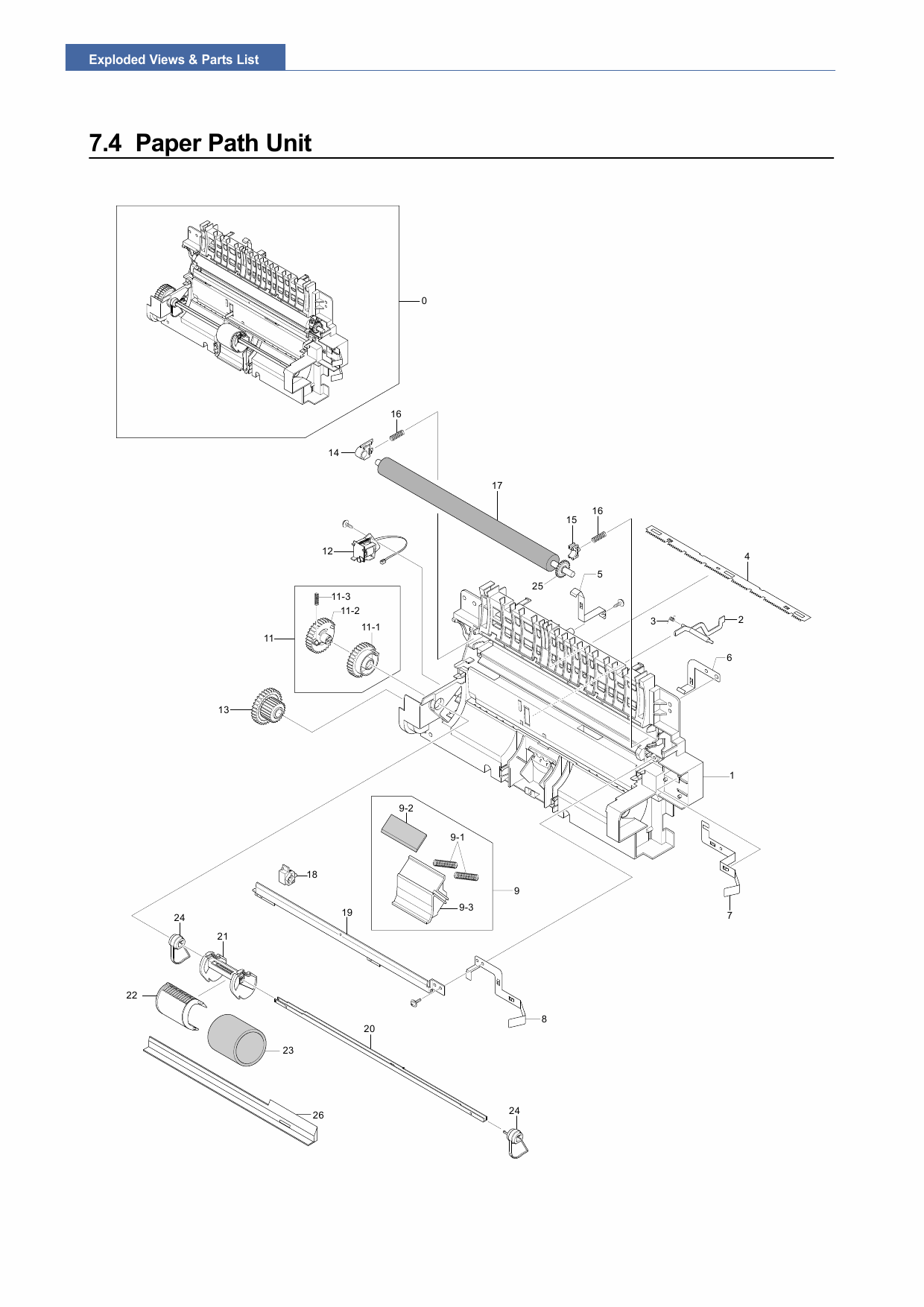 Samsung Laser-Printer ML-2570 Parts Manual